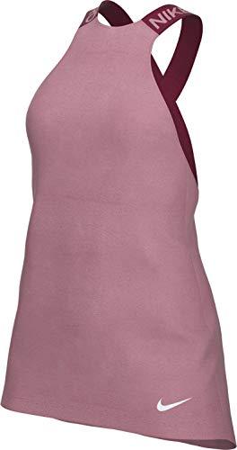 Nike Pro Women's Desert Berry Particle - Camiseta para mujer, color rosa y plateado rojo XS