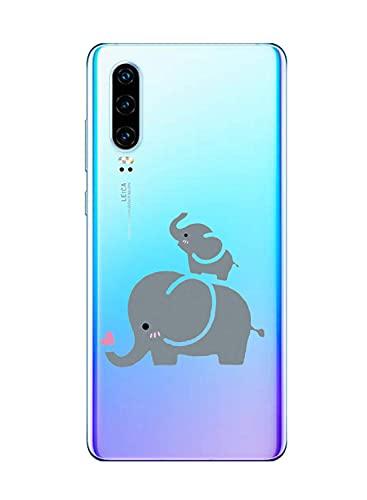 Suhctup Motivo Linda Funda Transparente Compatible con Huawei Honor 8X,Ultrafina Suave Silicona TPU Antigolpes Caso con Patrón Diseño Transparente Anti-caída Escudo Protector