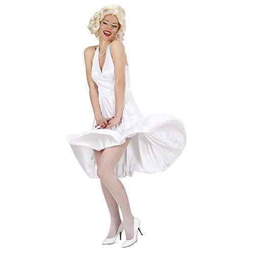 Widmann 11002605 Erwachsenenkostüm Marilyn, Damen, Weiß, M