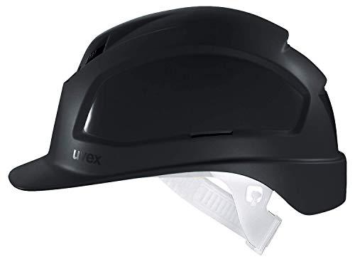 Uvex Pheos B Schutzhelm - Belüfteter Arbeitshelm für die Baustelle - Schwarz Schwarz