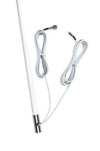 Air Wave Marine 150531 Dual Band VHF AM/FM Combo Marine Antenna