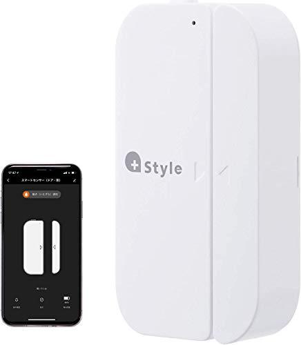 【+Style ORIGINAL】スマートセンサー ドア 窓 開閉 スマホにリアルタイム通知 工事不要 プラススタイル家電を自動動作 wifi