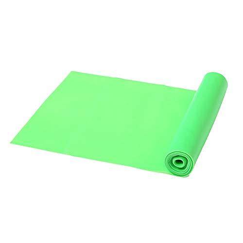 BGROESTWB Übungs-Bänder Widerstand Stretch-Band-Yoga Stretch Band Home Gym Stretch Training Workout Bands für Dehnübungen (Color : Green, Size : 1.5M)