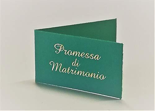 Cartotecnica Italiana 100 Pz Bigliettini Bomboniera Promessa di Matrimonio Dettagli Color Oro