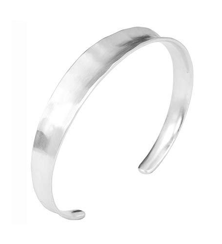 Pernille Corydon Damen Armreif Saga Bracelet gehämmerte Oberfläche - Matt 925 Silber - B411s