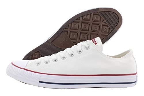 Tenis Converse - Chuck Taylor All Star - Tenis de lona clásicos de perfil alto y bajo, blanco