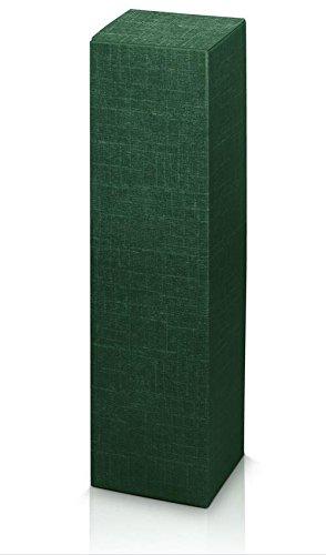 10 Stück Weinkarton, Weinverpackung, Flaschenkarton -Fineline Grün Faltschachtel für Eine Flasche Wein/Sekt (Grün)