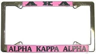 Alpha Kappa Alpha Sorority Pink Silver License Plate