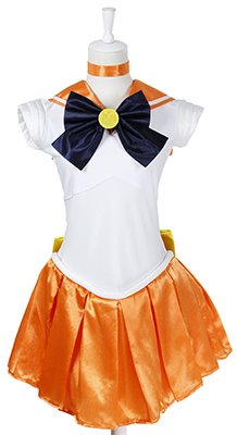 『セーラームーン 風 コスチューム 衣装 10点セットc328el (ヴィーナス 愛野美奈子 風 , Lサイズ)』のトップ画像