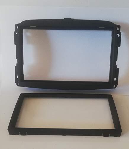 Mascherina telaio autoradio Adattatore stereo 2 doppio Din compatibile per Fiat 500 L 2012  2018 500L NERO MS445/ST
