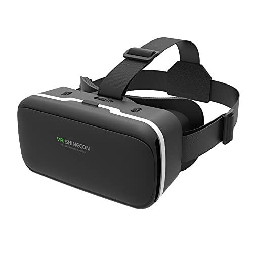 GUBENCI Gafas VR, 3D VR Gafas de Realidad Virtual VR Glasses Visión Panorámico 360 Grado Película 3D Juego Immersivo para Móviles 4.7-6.6 Pulgada