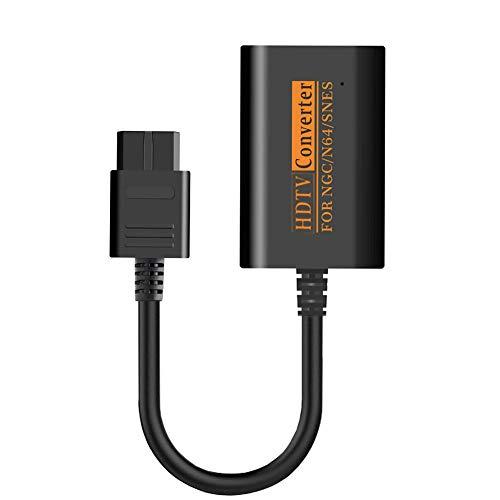 NXACETN Cable HD De Convertisseur D'adaptateur HDMI 1080P Compatible avec La Console Gamecube De Nintendo 64 / Snes/NGC Noir