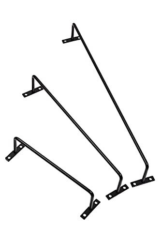 KBER アイアンバー タオル掛け タオルハンガー スリッパ掛け diy (黒 白 2色) 長さ3種類(18.6cm 28.6cm 38.8cm) (黒(ブラック), 38.8cm(フェイスタオル))
