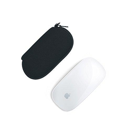 Case Wonder 2 Piezas de Neopreno de Almacenamiento Llevar Bolso Caso de la Caja Guardapolvo para Apple Magic Mouse (I y II de 2da generación) Ratón inalámbrico Bluetooth