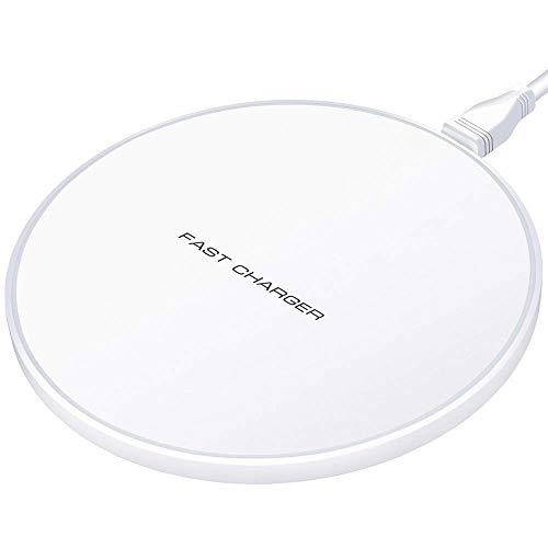 LHZTZKA draadloze oplader 10 W Qi Wireless snellading Quick Charger [Energie-efficiëntieklasse A+++], Wit