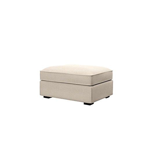 Soferia - IKEA KIVIK Funda para reposapiés, Elegance Creme