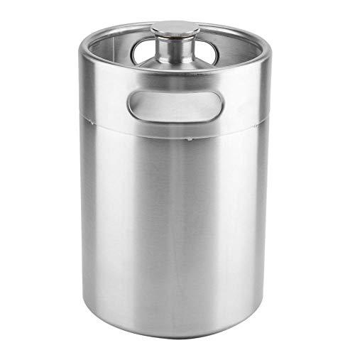 fdit Mini Acero Inoxidable Barril de Cerveza con espiral tapa tapa Práctico Home Hotel Supplies, 5 l
