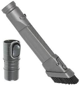 Kit de accesorios con cepillo de SPARES2GO para limpiar la tapicería, apto para los modelos principales de aspiradora Dyson Dusting Brush + Crevice Tool