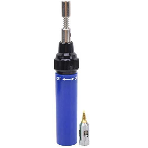 Pluma de soldadura MT-100 Pistola de soldadura de gas para soldador de gas para bricolaje(Navy blue)