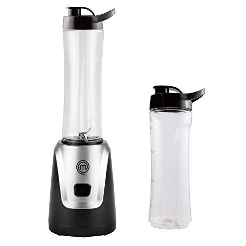MasterChef 525497 Licuadora para smoothies, Incl. 2 x botellas deportivas 600 ml, 0.6 litros, Plastic