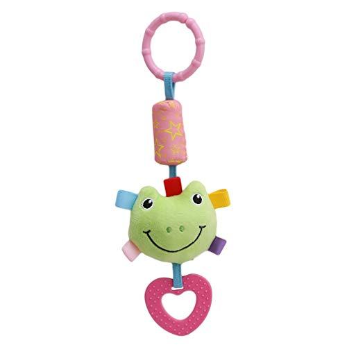 Fliyeong Premium-Clip auf Kinderwagen Spielzeug Baby Kinderwagen Windbell Toys Frosch