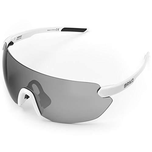 Briko Starlight 3 Lenses Gafas Sol Ciclismo, Unisex Adulto, Off White, One