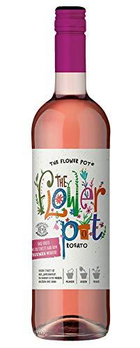 The Flower Pot Rosato Terre di Chieti IGP – Trockener Bio-Roséwein – Etikett aus Samenpapier zum Pflanzen bunter Blumen – 1 x 0.75l