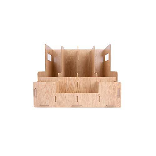 DDLONY Estante para Almacenamiento de Archivos Madera de Gran Capacidad Múltiples Compartimentos Desorden Vertical Empresa Carpetas para el hogar Estantería Artículos Diver