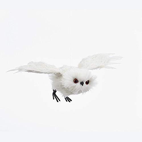 Kurt Adler WHITE FLYING OWL ORNAMENT