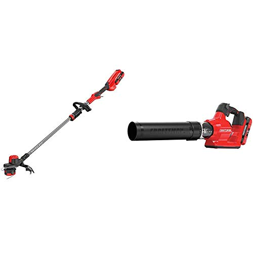 Read About CRAFTSMAN CMCBL760E1 V60 Axial Blower with CMCST960E1 V60 Brushless WEEDWACKER Cordless S...