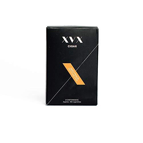 Preisvergleich Produktbild XVX CIGAR Nachfüllpatrone Elektronische Zigarre Nachfüllkartusche Fruchtiger Pfirsich Geschmack 1800 Züge Pro 2er-Packung 900 Züge Pro Patrone E-Zigarette E-Shisha Nikotinfrei