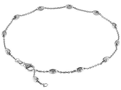 trendor Fußkettchen Sterlingsilber 925 Ankerkette modischer Fußschmuck für Damen, Elegante Kette aus echtem Silber, tolle Geschenkidee für Frauen, 35669