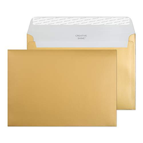 Creative Shine 45313 Briefumschläge Haftklebung Metallisch Gold C5 162 x 229 mm 130g/m² | 25 Stück