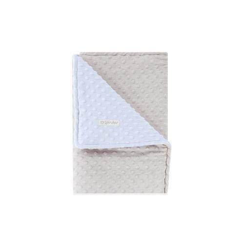 Imagen para Pirulos 64005153 - Manta doble cara, 80 x 110, diseño dots, color gris/azul