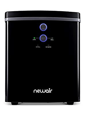 NewAir Portable Maker 33 lb 2 Ice Size Bullets Daily, Perfect Machine for Countertops, NIM033BK00, Black
