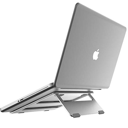 Laptop Stand, Portable Ergonomic Cooling Aluminum Notebook Mount, for 10'-14' Macbook, Acer, Asus, Dell And More Laptop,Silver