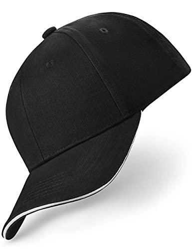REEFLESS® Baseball Cap Herren Damen schwarz weiße Basecap - verstellbare Kappe - Caps für Männer Frauen