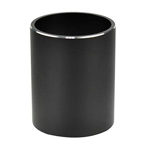 Houer metalen potlood penhouder ronde aluminium Desktop Organizer en beker opbergdoos Office School, zwart