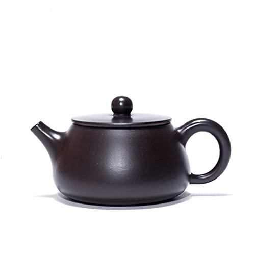 ZHNINGUR 160ml Yixing Purple Clay Teapots Beauty Kettle Handmade Black Mud Tea Set Classic 9 Holes Teapot
