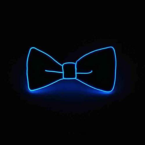 San Zhi LED Leuchtend, verstellbar, beleuchtet, EL Draht mit Schalter, Einheitsgröße, Dunkelblau