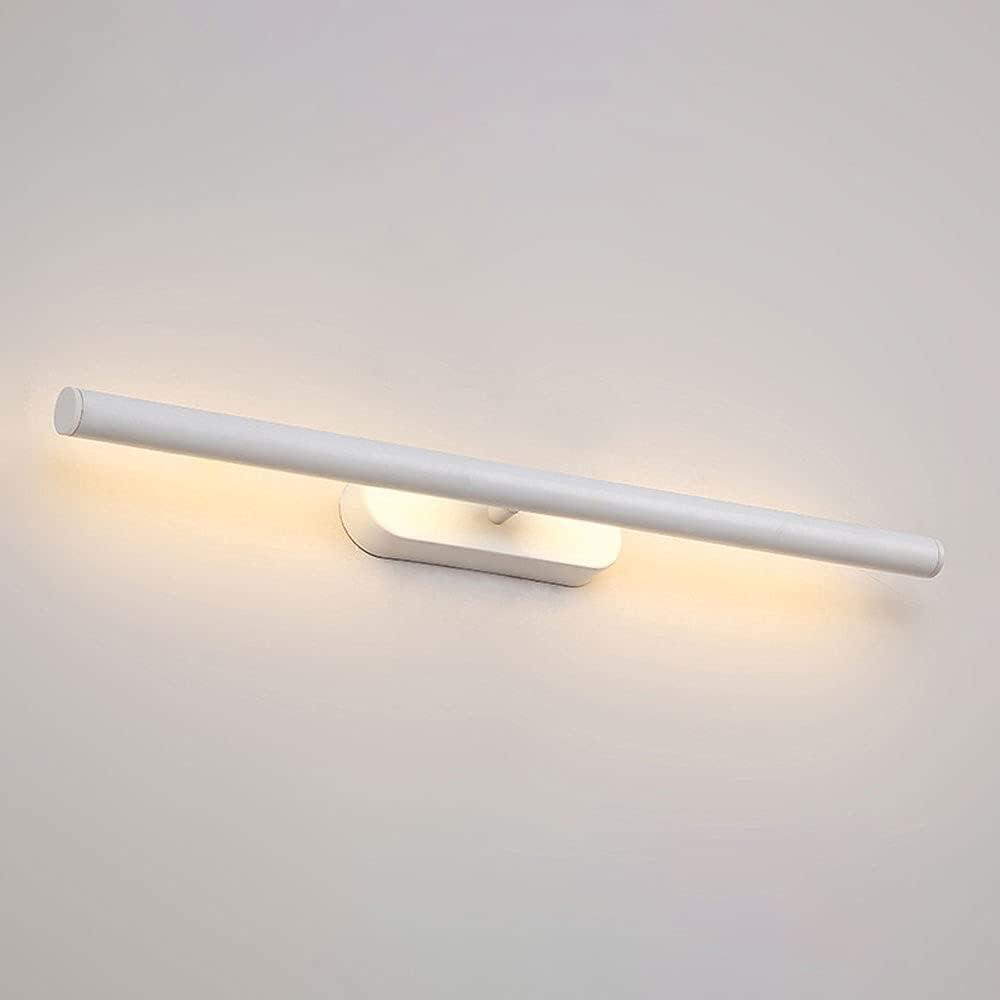 Moderna luz de tocador para baño LED de 22,4 pulgadas, lámpara frontal con espejo ajustable, accesorio de iluminación para espejo de maquillaje de 10 W, lámparas de pared para inodoro a prueba de agua