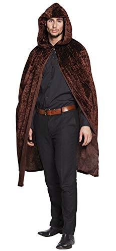 Mantello domino con cappuccio Dawn (170 cm), marrone