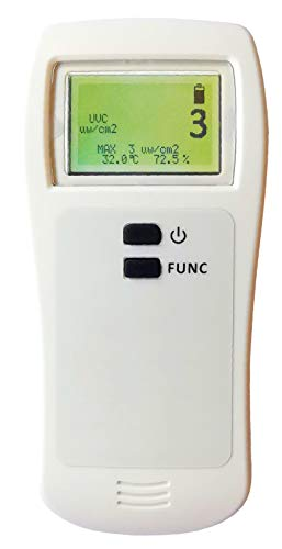 UVC Light Meter UVC Ultraviolet Power Meter for 254nm Lamp, 220-280 nm
