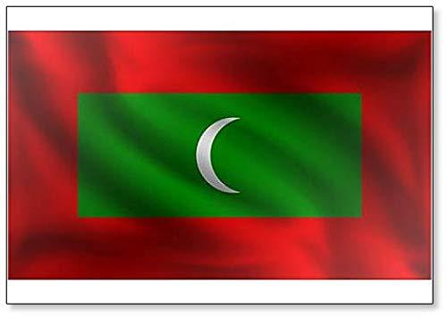 Kühlschrankmagnet, Motiv Waving Maledives Flagge
