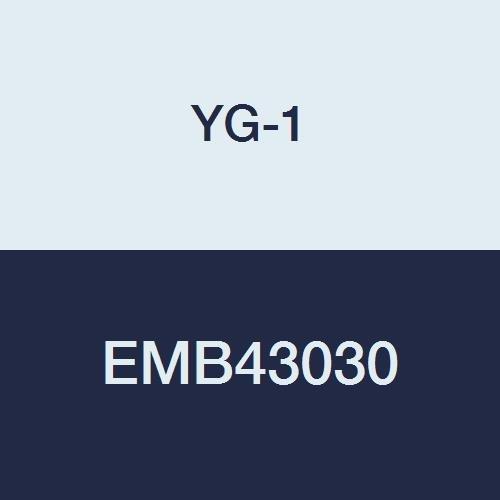 YG-1 EMB43030 3.0 mm Carbide V7 Mill INOX Corner Radius End Mill, 4 Flute, Short Length, 54 mm Length