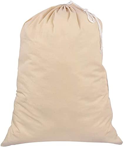 Sweet Needle Extra grote, extra grote boodschappenzakken voor wasgoed, 71 x 91 cm (28 x 36 inch) 75 l – 100% katoen…