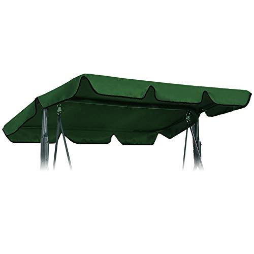 OTOTEC Swing Chair Canopy Replacement, Waterproofed Canopy Swing Chair Tent Sunshade Camping Swing Roof Replacement Garden Supplies Fabric Sun Shade 197x110cm Green