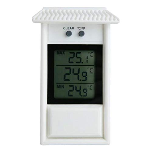 Tianxuan Thermometer Indoor Thermometer Eaves Shape Outdoor Tuin Koelkast Waterdichte Thermometer (Zwart) thermostaat