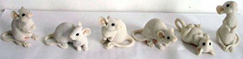 Unbekannt Deko Mäuse in Weis 6 Stück