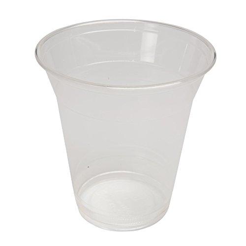 BIOZOYG Vaso Smoothie desechable orgánico I Slushy Vaso Hecho de plástico Biodegradable I Vaso de Postre Vaso de cóctel Vaso de Agua Transparente 50 Piezas 300 ML 12 oz